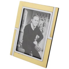 Mid-Century Modern Picture Photo Frame Chrome & Brass by Noel B.C., Italy, 1970