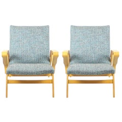 Tatra Armchairs in Light Beech, Czechoslovakia, circa 1960