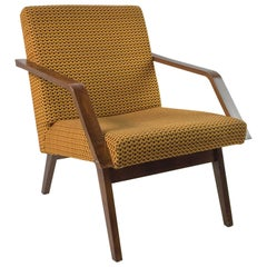 Vintage Safran Colored Lounge Chair