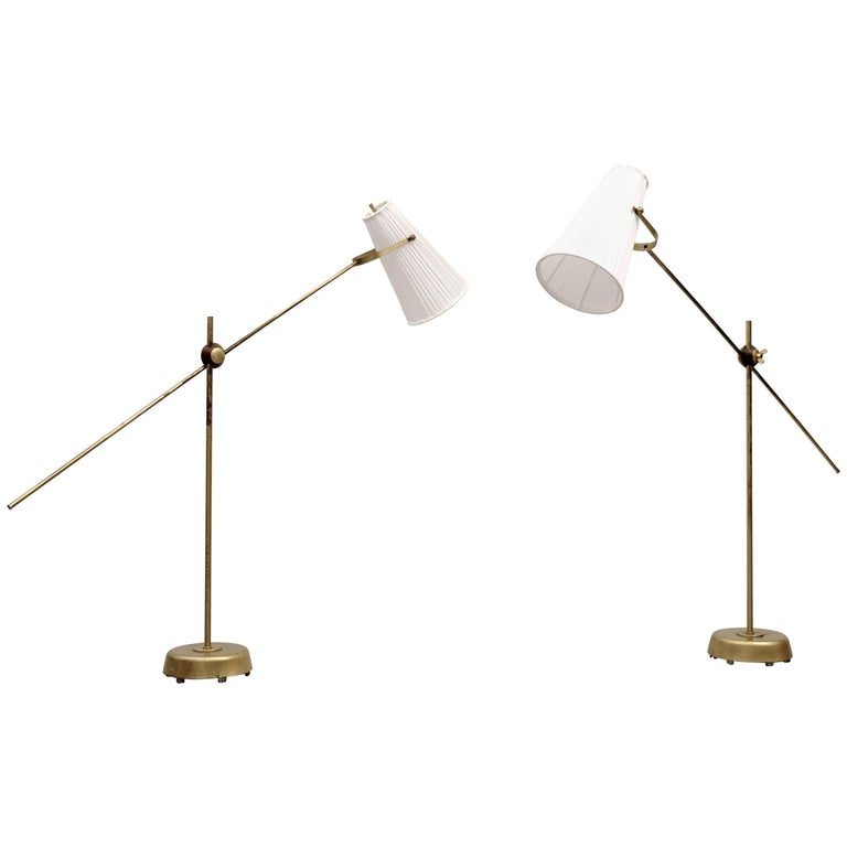 Pair of Floor Lamps by Hans Bergström, 1950s For Sale