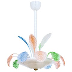 Italian Chandelier in Multi-Color Murano Glass, from 1960s