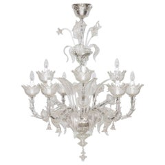 Italian Ca'rezzonico Chandelier in Transparent Murano Glass from 2017
