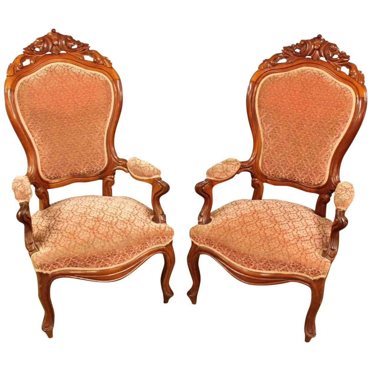 Biedermeier Style Pair Of Chairs 1