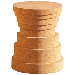 Crac - Cork Stool by Philippe Cramer for Le Point D, Contemporary Furniture