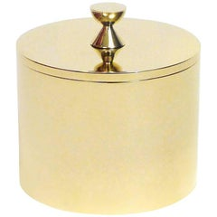Contemporary Round Solid Swedish Brass Modern Minimalist Artisan Box