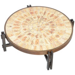 Large Garrigue Coffee Table by Roger Capron
