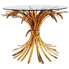 Regency Coco Chanel Table with Gilt Wheat, Maison Kogl, Germany, 1970s