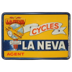 1948 Tin Publicity Sign for La Neva Cycles