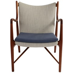 Finn Juhl NV45 Chair in Cuban Mahogany for Niels Vodder