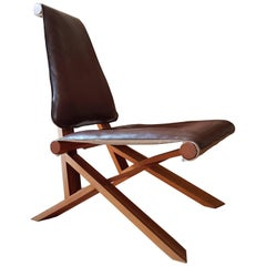 """Armchair S46 Y Chlac """"Dromadaire"""" by Pierre Chapo in French Elm from 1970"""