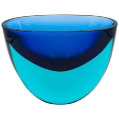 Flavio Poli Seguso Blue Vase