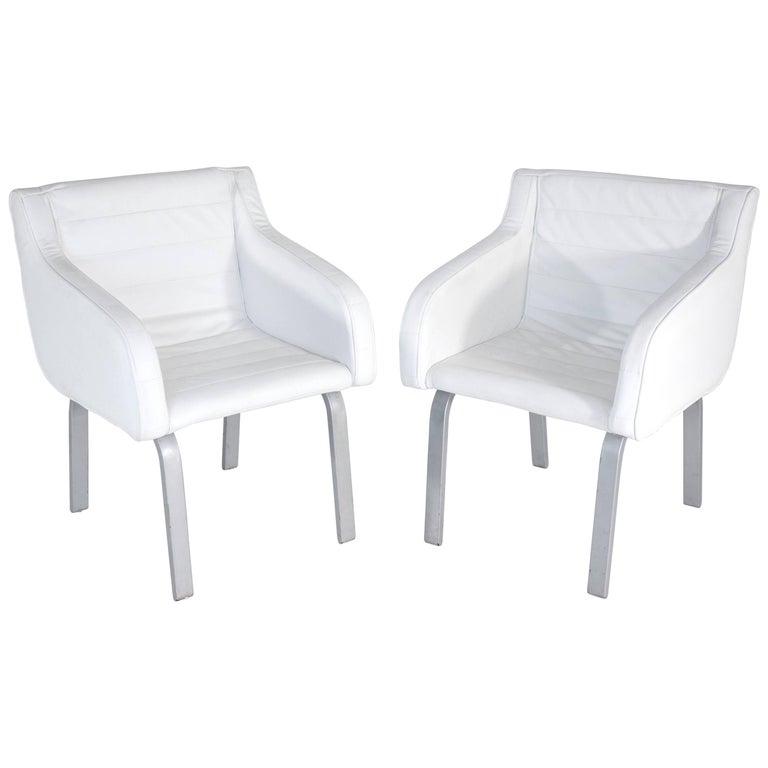 Pair of Christian Biecher Armchairs for Poltrona Frau, 1990s