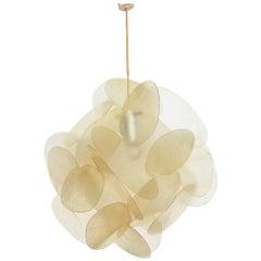 Original fiberglass Lamp by Enrico Botta for Sundown, Italy, 1960s