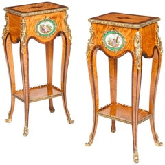 19th Century Pair of Occasional Tables in the Louis XV Transitional Taste