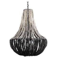 klaylife LIM, ombre handmade clay beaded chandelier/hanging light, 21st Century