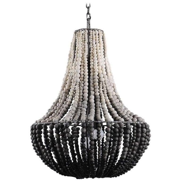 klaylife LIM, ombre handmade clay beaded chandelier/hanging light, 21st Century