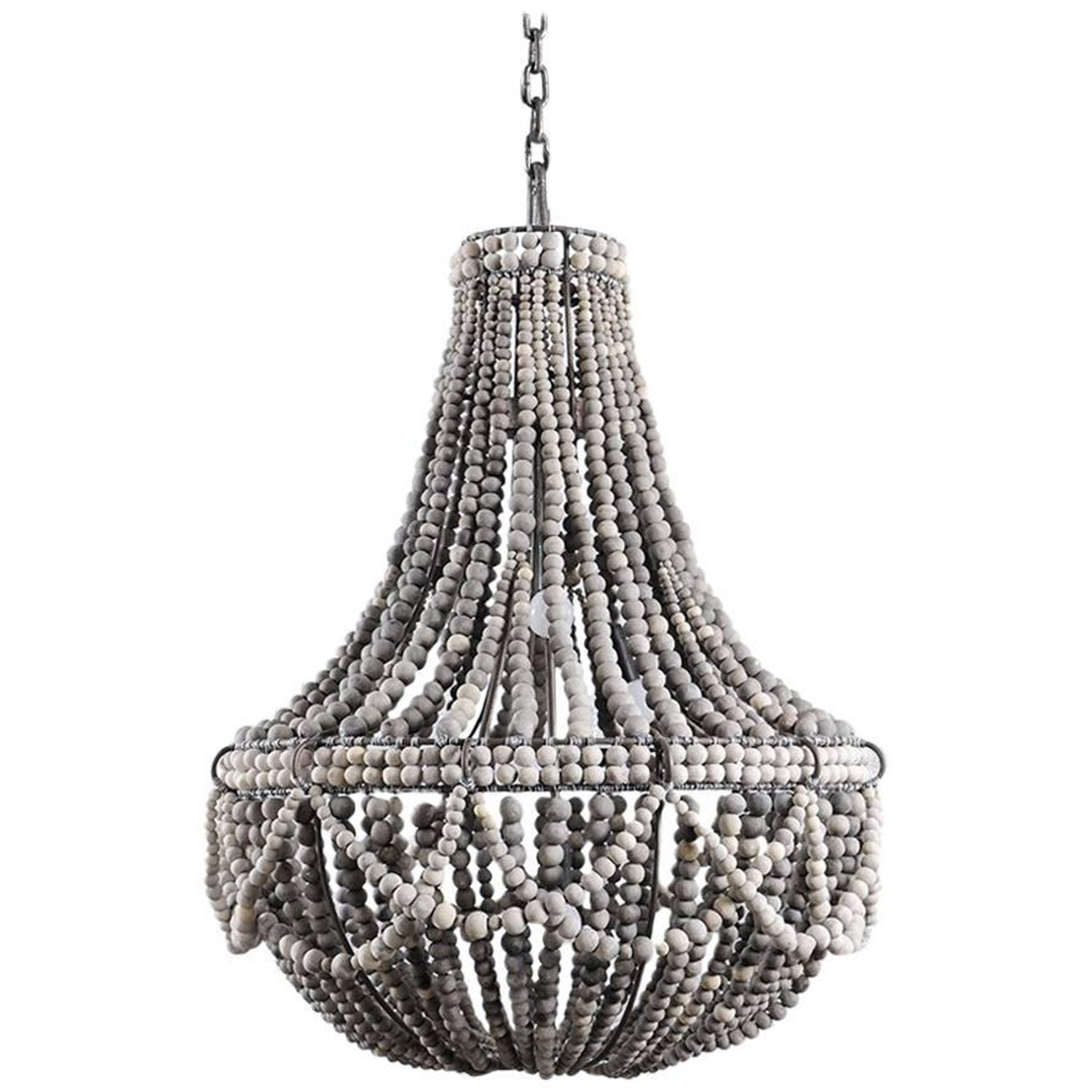 brass light white beaded amoret bead today shipping adjustable safavieh overstock home chandelier inch lighting free product garden