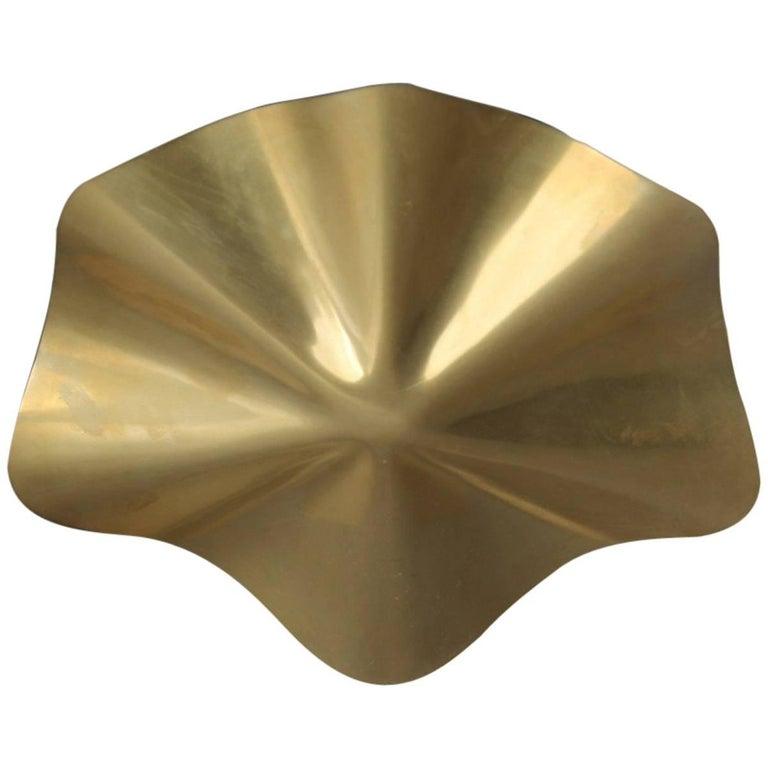Bowl Brass Tray 1970s Sergio Asti Chic Italian Design