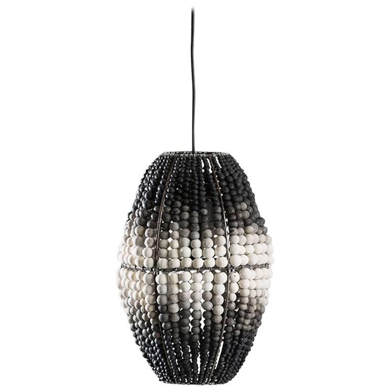 Klaylife Barrel, Ombre Handmade Clay Beaded Pendant Light, 21st Century