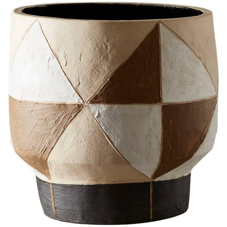Large Handmade Grey Ceramic Stoneware Vase By Daniel Reynolds The