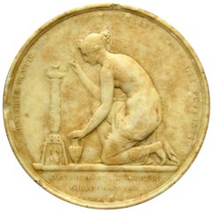 19th Century, Grand Tour Composition Allegorical Roundel, Continental, 1841