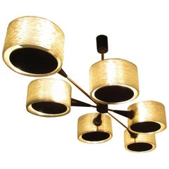 French 1970s Geometric Chandelier by Maison Arlus