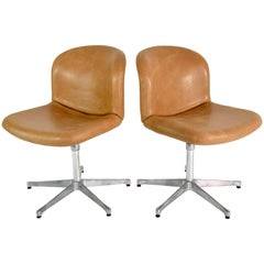 Mid-Century Ico Parisi Desk Chairs for MIM, Italy, 1950s