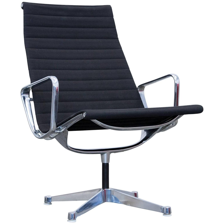 Herman Miller Eames Designer Swivel Chair Fabric Black e Seat