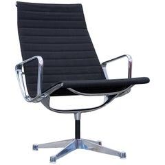 Herman Miller Eames Designer Swivel Chair Fabric Black One Seat Function Modern