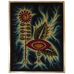 1960s Framed Tapestries by Jean Lurçat Flowers
