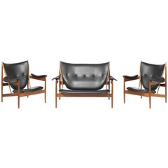 Finn Juhl Sofa and Two Armchairs