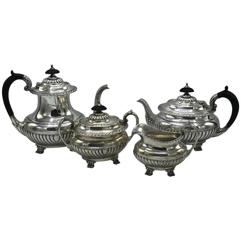 1940s Reed & Barton Stratford Sterling Silver Coffee or Tea Set, Set of Four