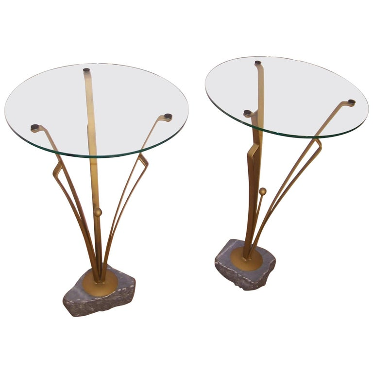 Pair of Art Deco Design Tables For Sale