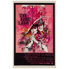 My Fair Lady Original Us Film Poster, Bob Peak, 1964