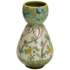 Burmantofts Faience Partie-Color Vase by Joseph Walmsley