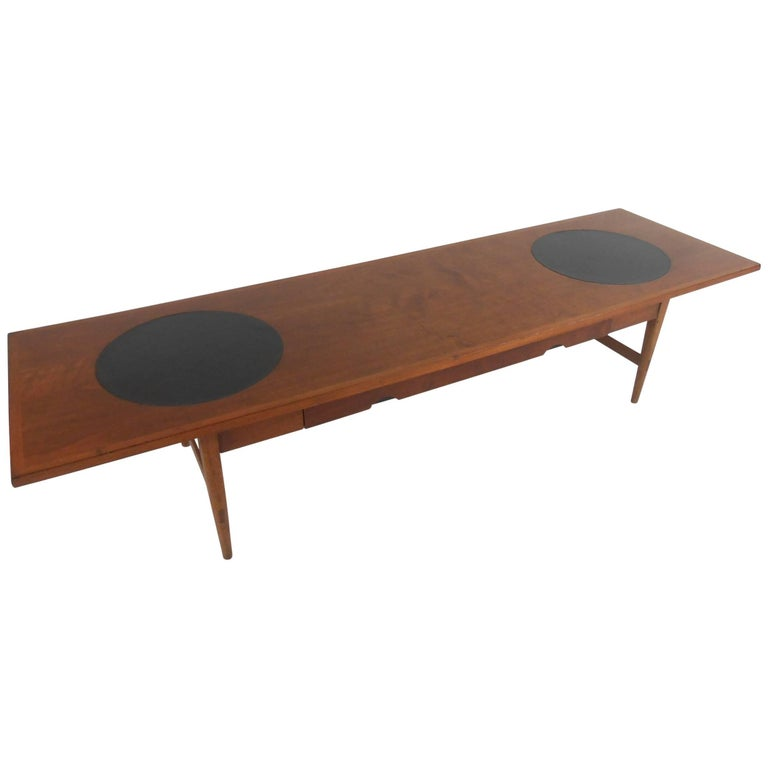 Mid-Century Modern Coffee Table with Vinyl Inlays by Lane Altavista