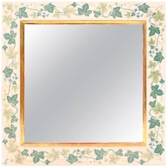 Estrid Ericson Mirror with Ivy and Gilded Detail for Svenskt Tenn 1950s
