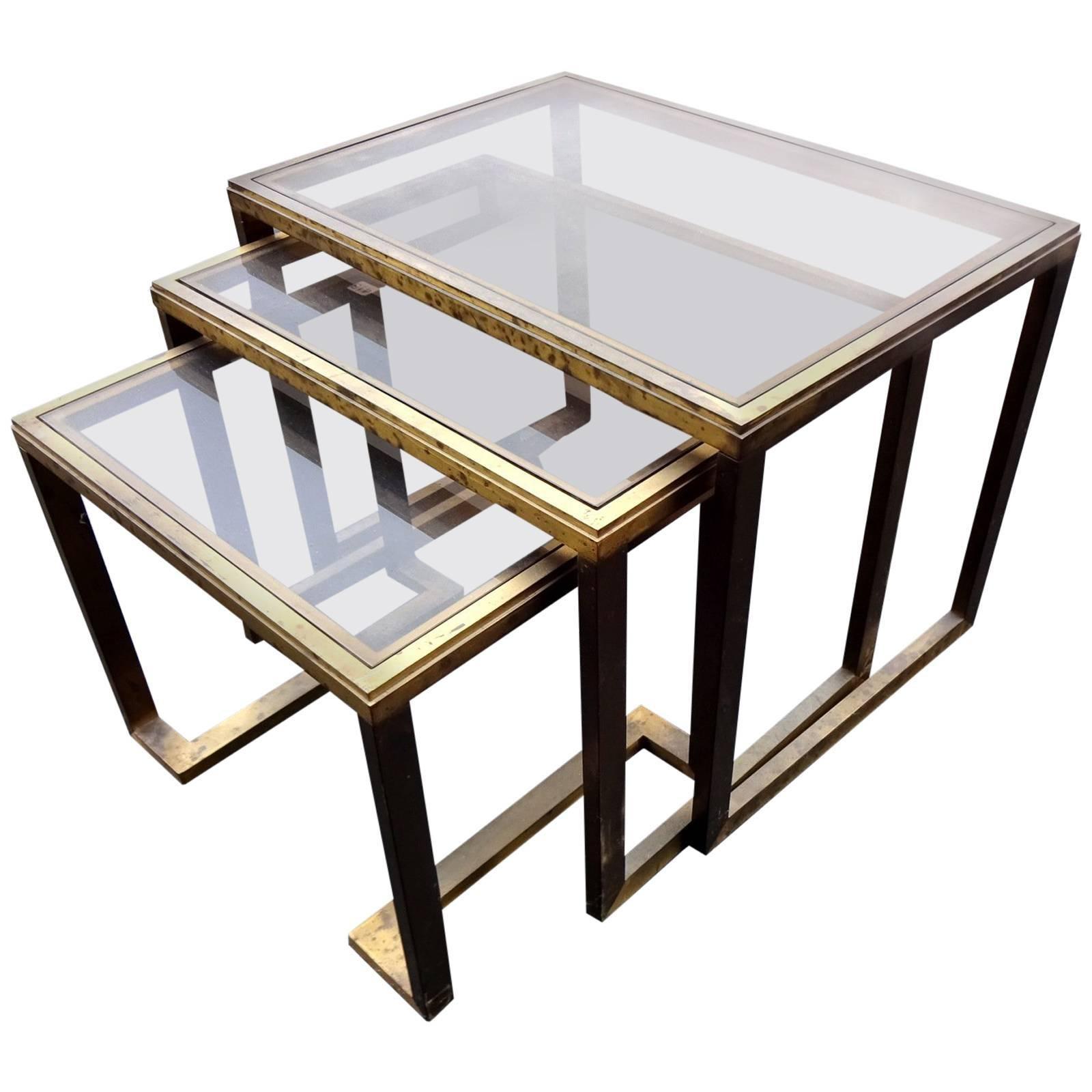 Nesting Brass Tables