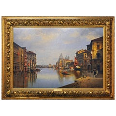 View of Canal Grande and Santa Maria Della Salute in Venice by Karl Kaufmann