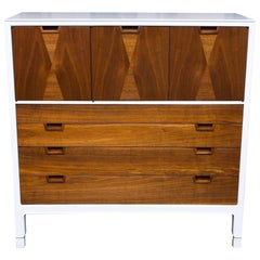 Lacquered John Stuart Janus Collection Walnut High Boy