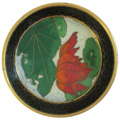 Vintage Chinese Cloisonné Trinket or Jewelry Dish