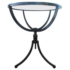 Midcentury Gueridon Form Black Iron Table