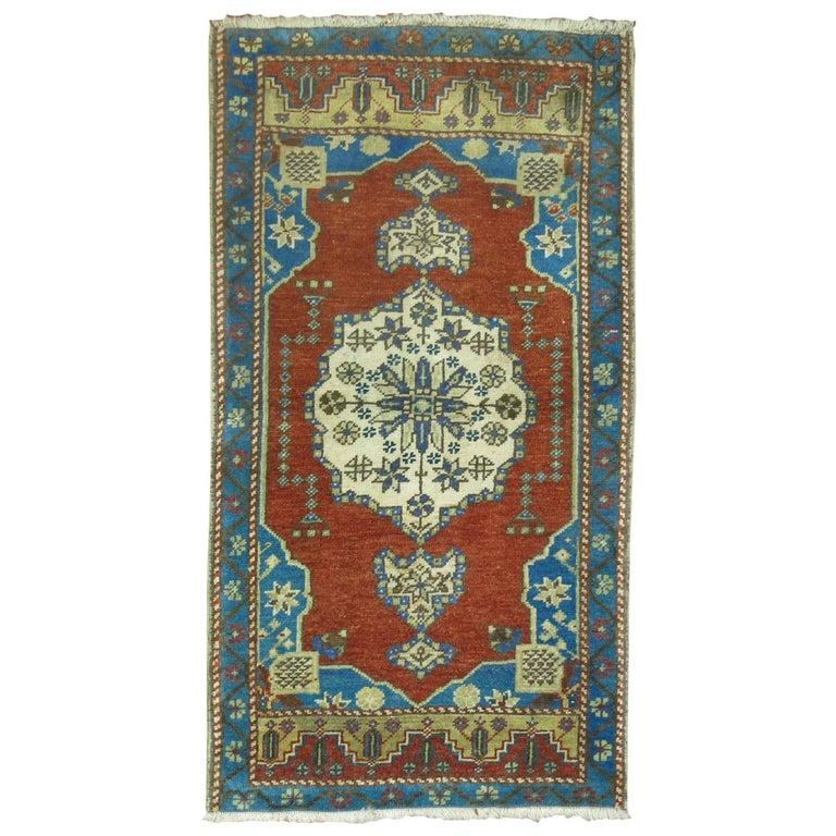 Vintage Turkish Oushak Rug
