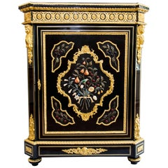 Mid-19th Century Large Pietra Dura Cabinet Meuble D'appui by Befort Jeune, Paris