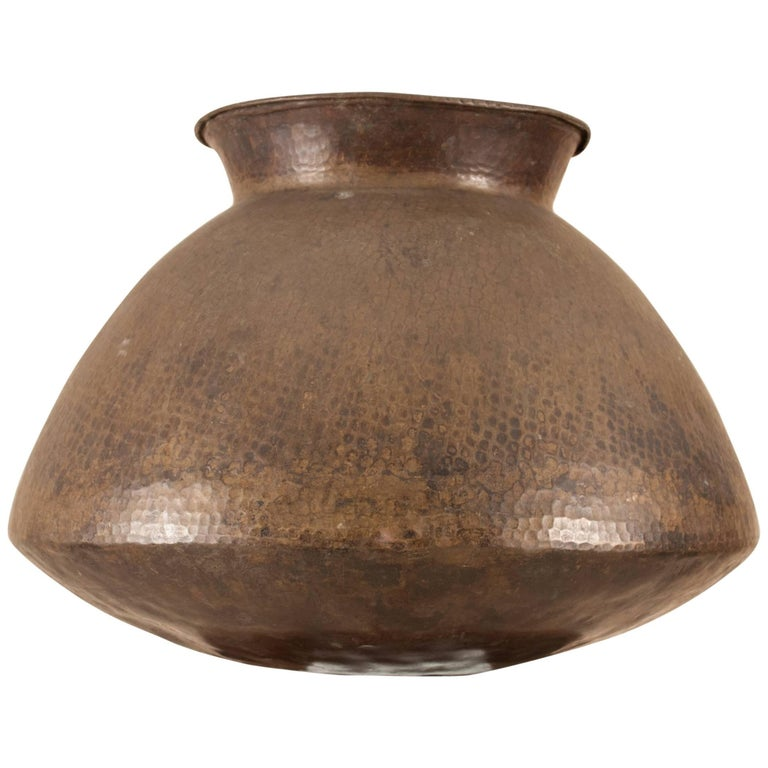 Early 20th Century Brass Urn or Vessel from India