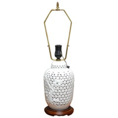 Diminutive Japanese Blanc De Chine Porcelain Table Lamp