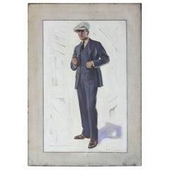 Original Oil on Canvas Illustration Art
