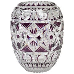 French Crystal Cut-Glass Vase