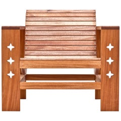 Uti 'Ooh-Tee' Lounge Chair in Mahogany with Natural Finish, Wooda Original