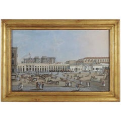 Early 19th Century Italian Gouache, Castel del Ovo, Naples, circa 1810